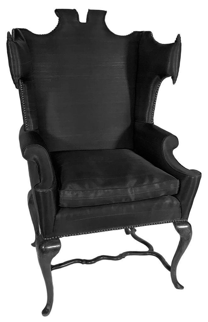 Mid-century wingback chair by Arturo Pani, estimated at $3,000-$5,000