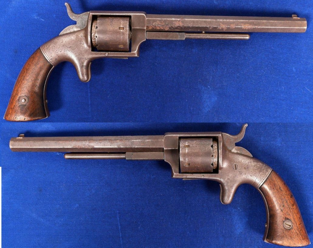 First model Navy revolver, serial #1, built around 1862 and estimated at $3,000-$6,000