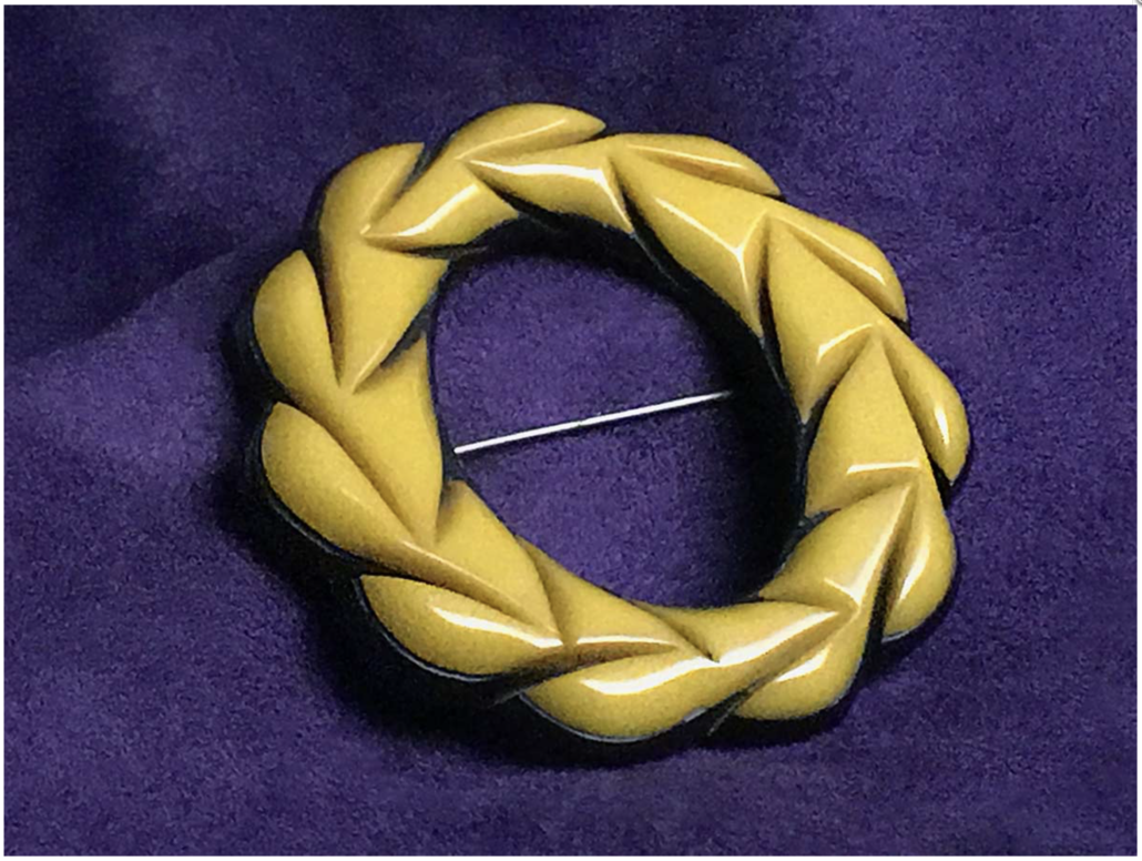 Bakelite brooch from the collection of Hugh Karraker, executive producer of 'All Things Bakelite'