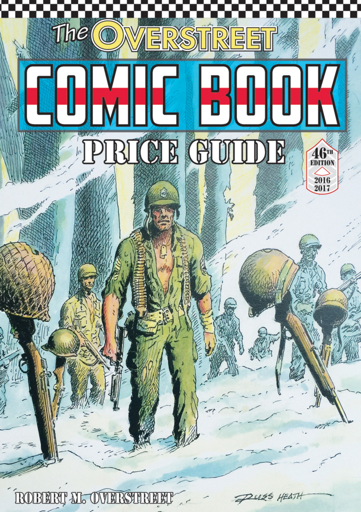 Overstreet commissioned artist Russ Heath, well known for his war comics art, to create the Hall of Fame cover for the 46th edition of its annual comic books price guide in 2016, featuring beloved character Sgt. Rock.