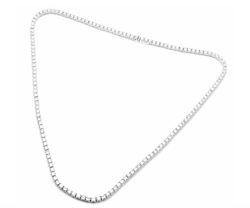 Cartier 18K white gold diamond tennis bracelet, estimated at $44,000-$53,000