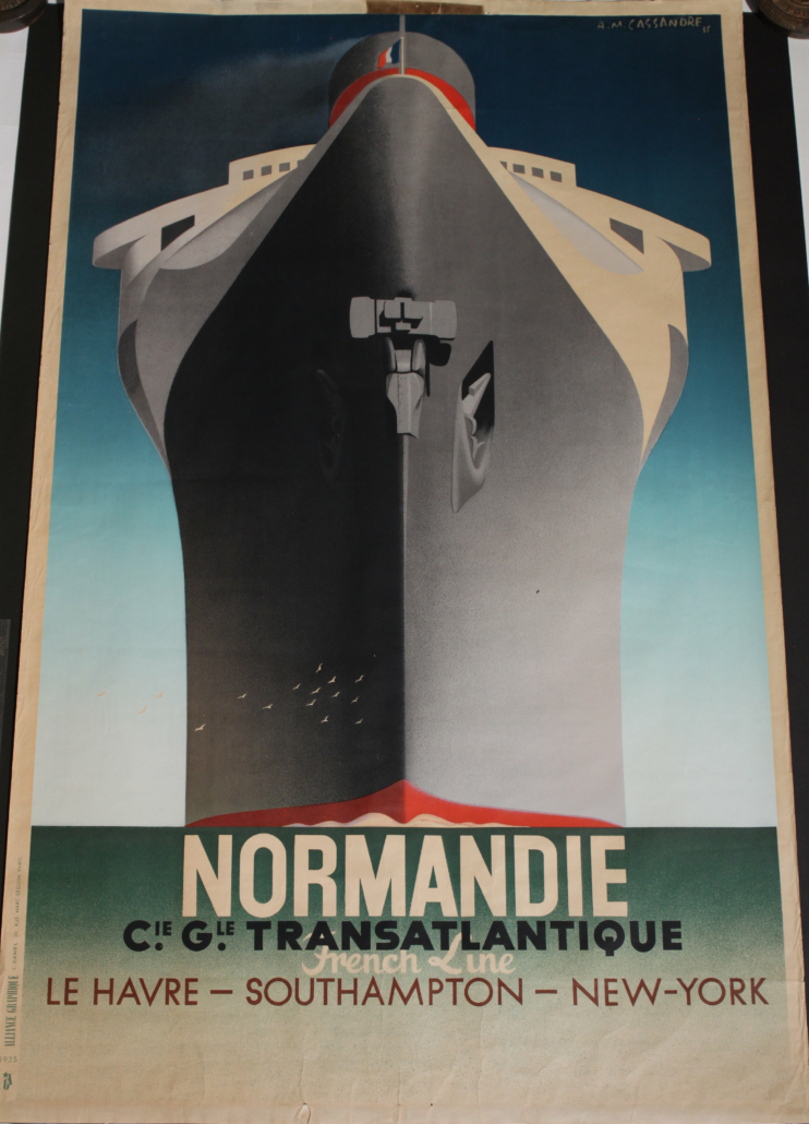 A. M. Cassandre's 'Normandie' poster, estimated at £6,000-£8,000