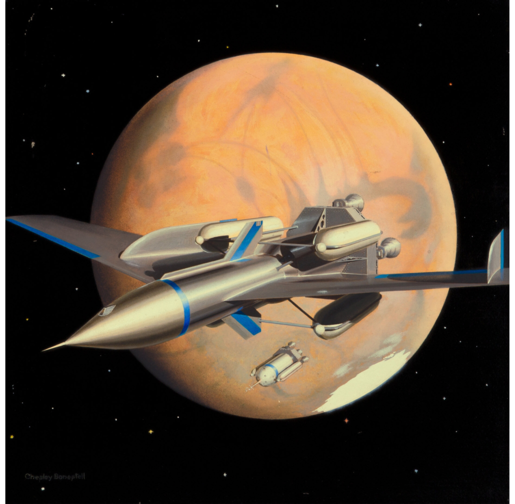 Chesley Bonestell, 'The Exploration of Mars' book cover art, which sold for $87,500