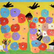 Clementine Hunter, 'Uncle in the Flower Garden,' which sold for a hammer price of $16,500