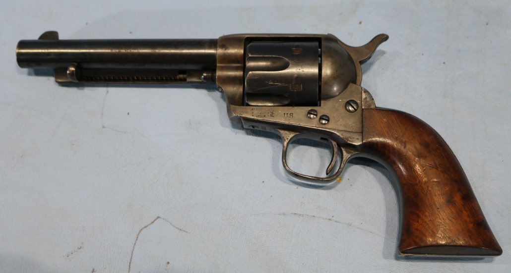 44 caliber US Colt single-action army pistol, estimated at $10,000-$25,000