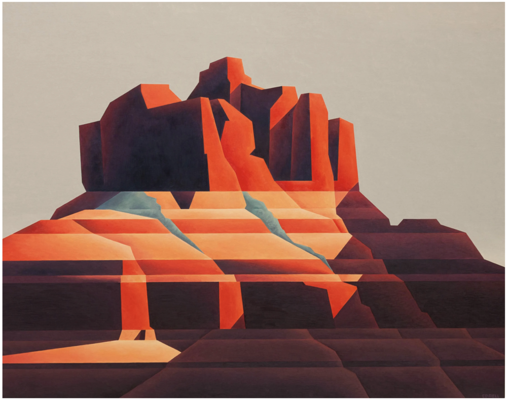 Ed Mell, 'Red Rock,' which sold for $37,500