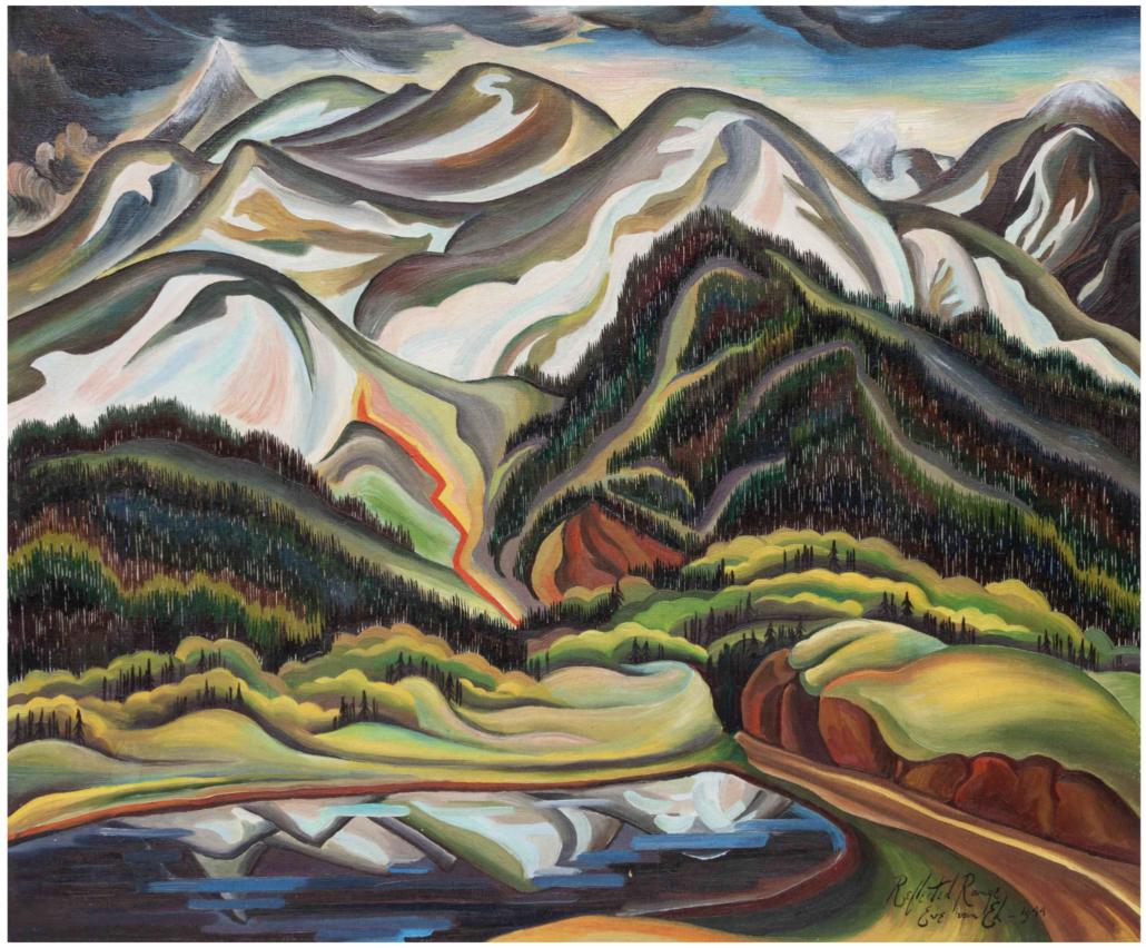 Eve Van Ek Drewelowe, 'Reflected Range,' which sold for $46,875