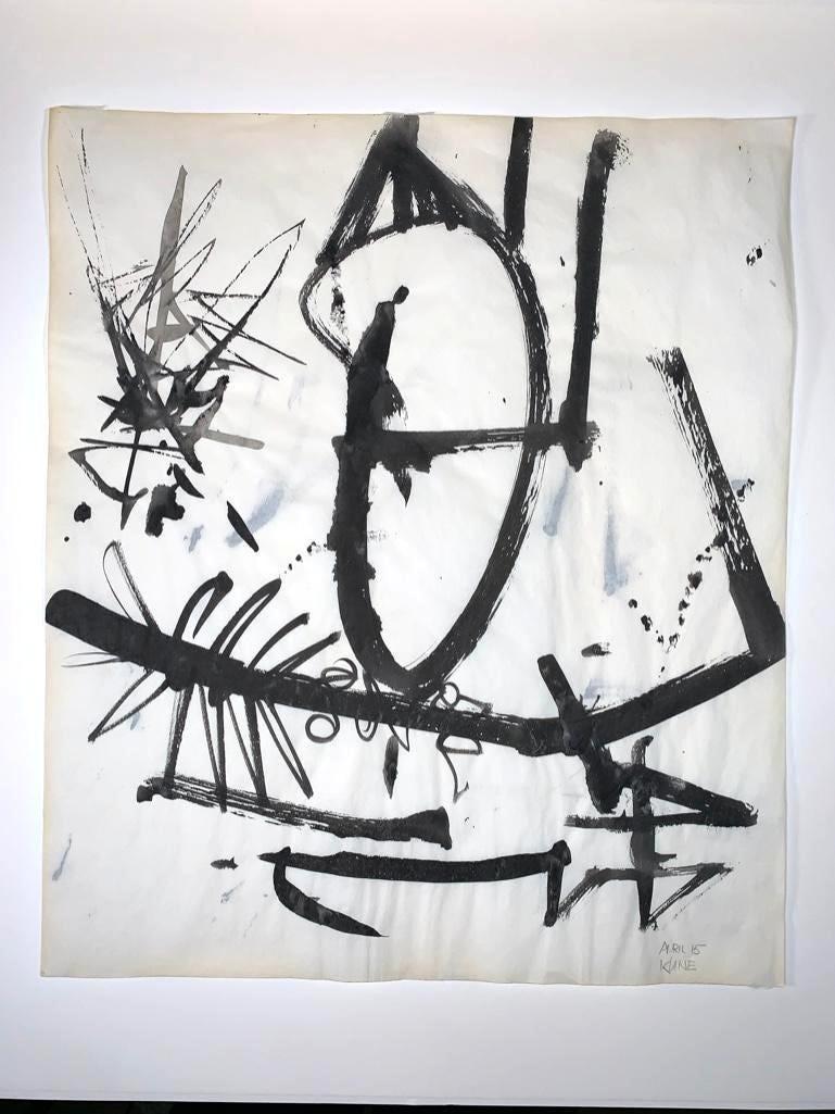 Untitled ink on paper by Franz Josef Kline, estimated at $30,000-$50,000