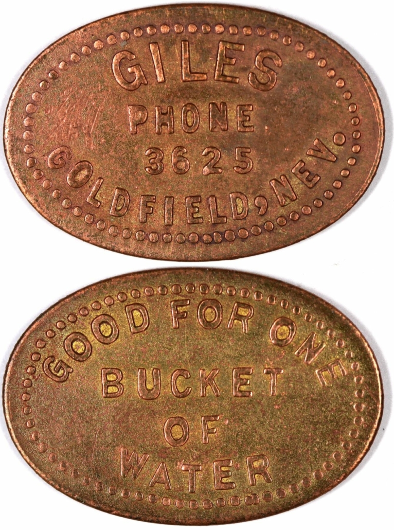 Giles token, one of only three known, which sold for $4,000