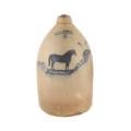 F. P. Goold three-gallon jug with racehorse decoration, estimated at CA $8,000-$12,000