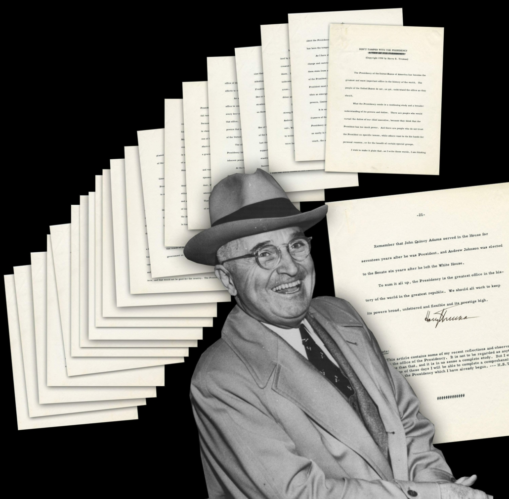 Harry S. Truman hand-corrected and signed manuscript, estimated at $3,500-$4,000