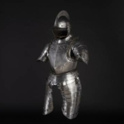 Black and white half armor from South Germany, estimated at €24,000-€48,000
