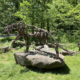 Wendy Klemperer, 'Catamount,' a 2009 salvaged steel structure on display at the Wildflower Sculpture Park.