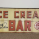 Art Deco ice cream sign, circa 1930, estimated at $4,000-$5,000