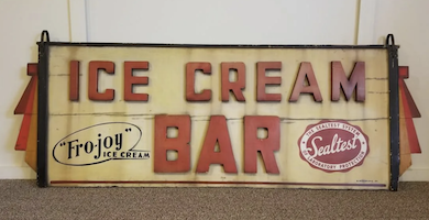 Art Deco ice cream sign a cool addition to May 20 NHADA auction