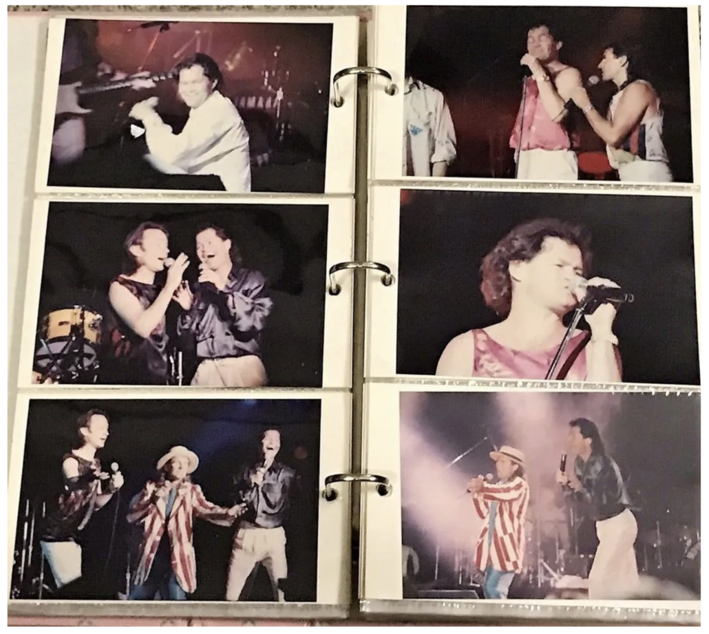Page from a 1987 fan photo album of The Monkees, estimated at $250-$300