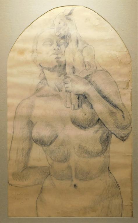 Jehangir Sabavala drawing, estimated at $6,000-$9,000