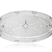 Large and early Georg Jensen silver fish platter and mazarine, estimated at $23,000-$28,000