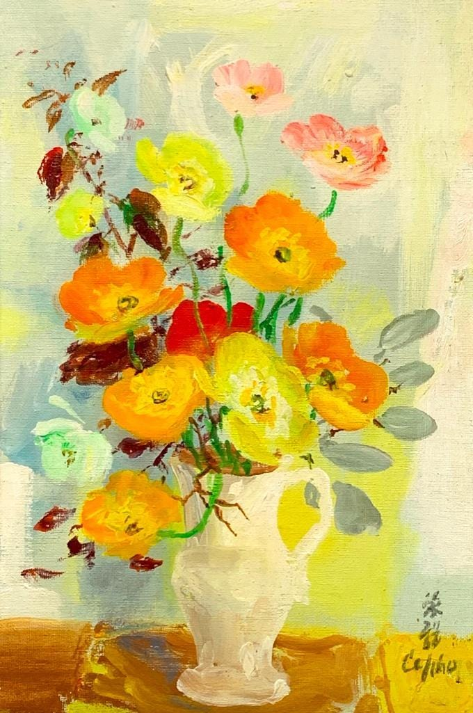 Still life floral painting by Le Pho, estimated at $6,000-$9,000