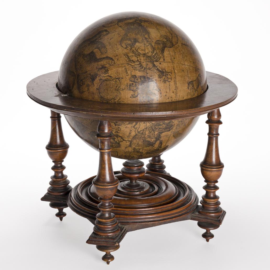 Early 17th century Italian celestial globe, estimated at $15,000-$20,000