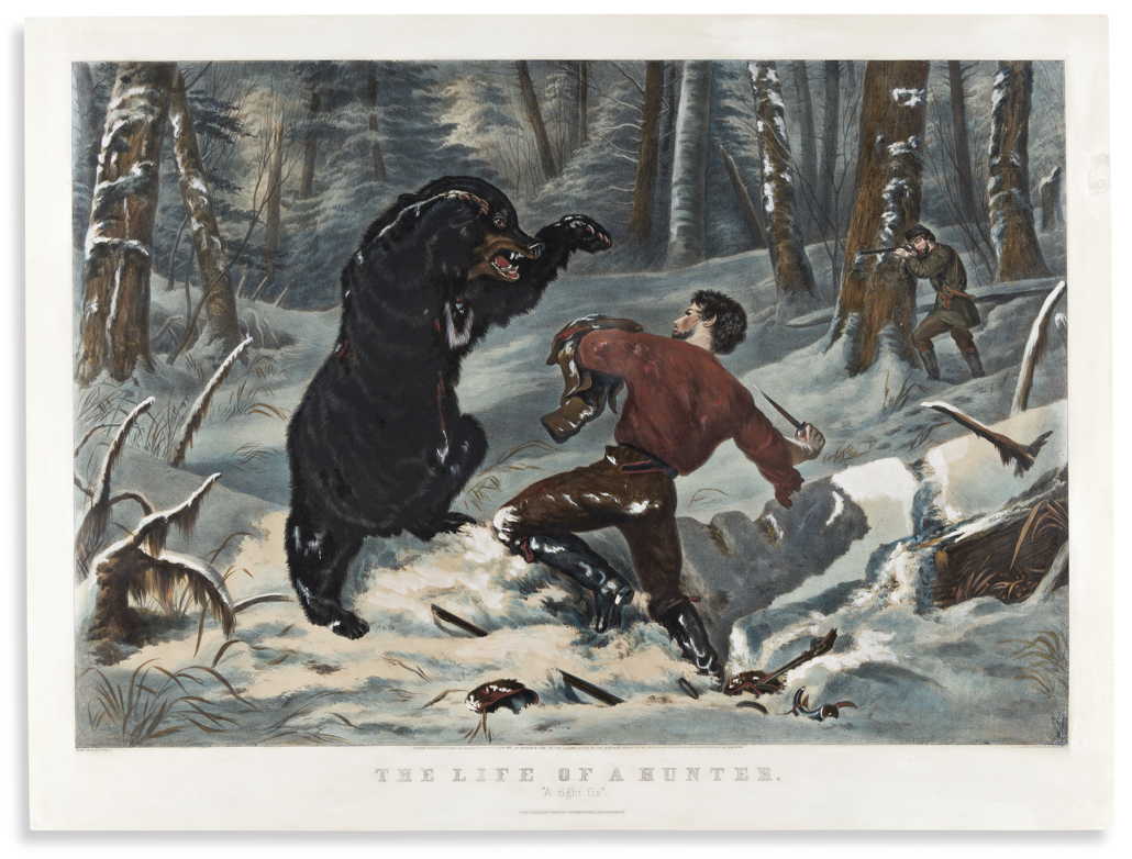 Currier & Ives, after A.F. Tait, 'Life of a Hunter,' estimated at $15,000-$20,000