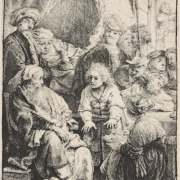 Rembrandt van Rijn, 'Joseph Telling His Dream,' which sold for $32,500, a record for the print.