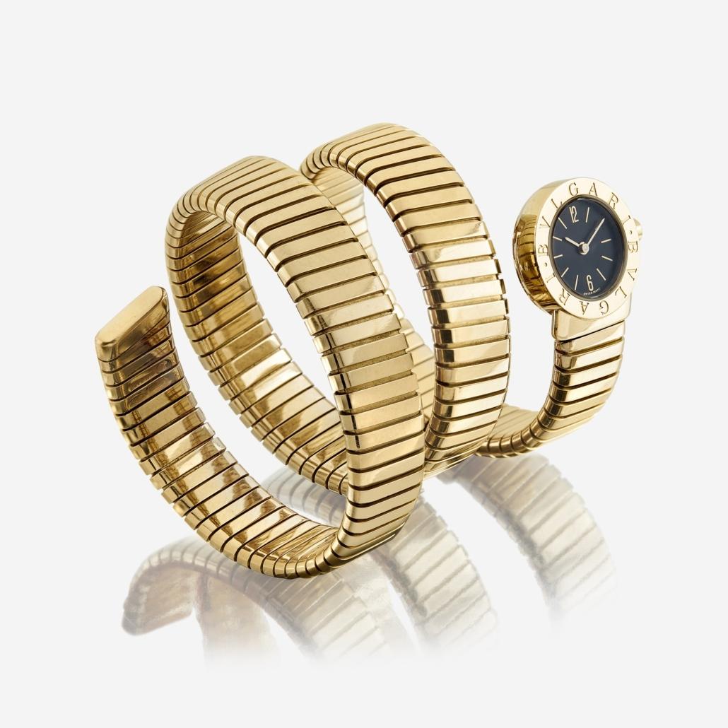 Bulgari 18K gold watch, which achieved $12,600