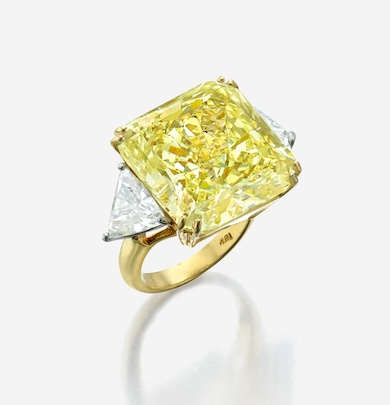 Yellow diamond ring sparkled brightly at Freeman's May 19 sale