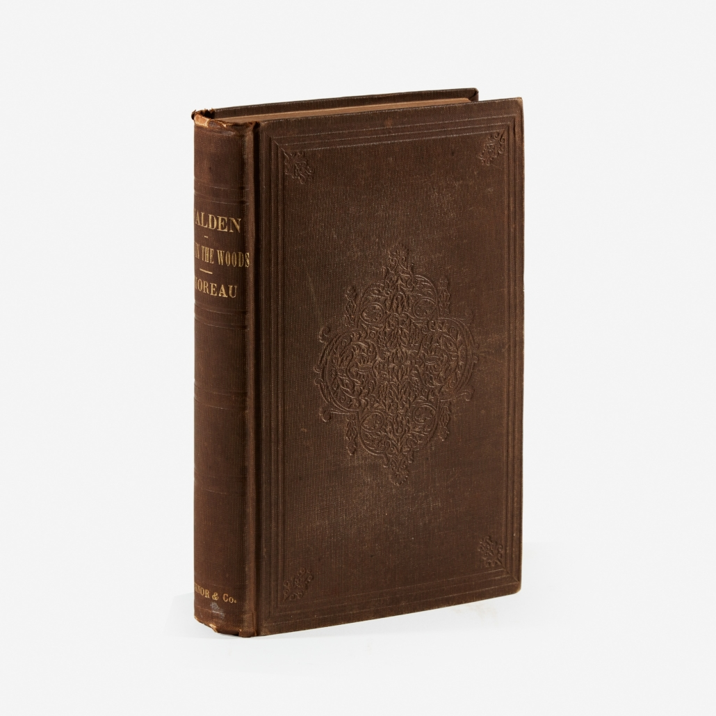 First edition of Henry David Thoreau's 'Walden: or, Life in the Woods,' which sold for $13,860