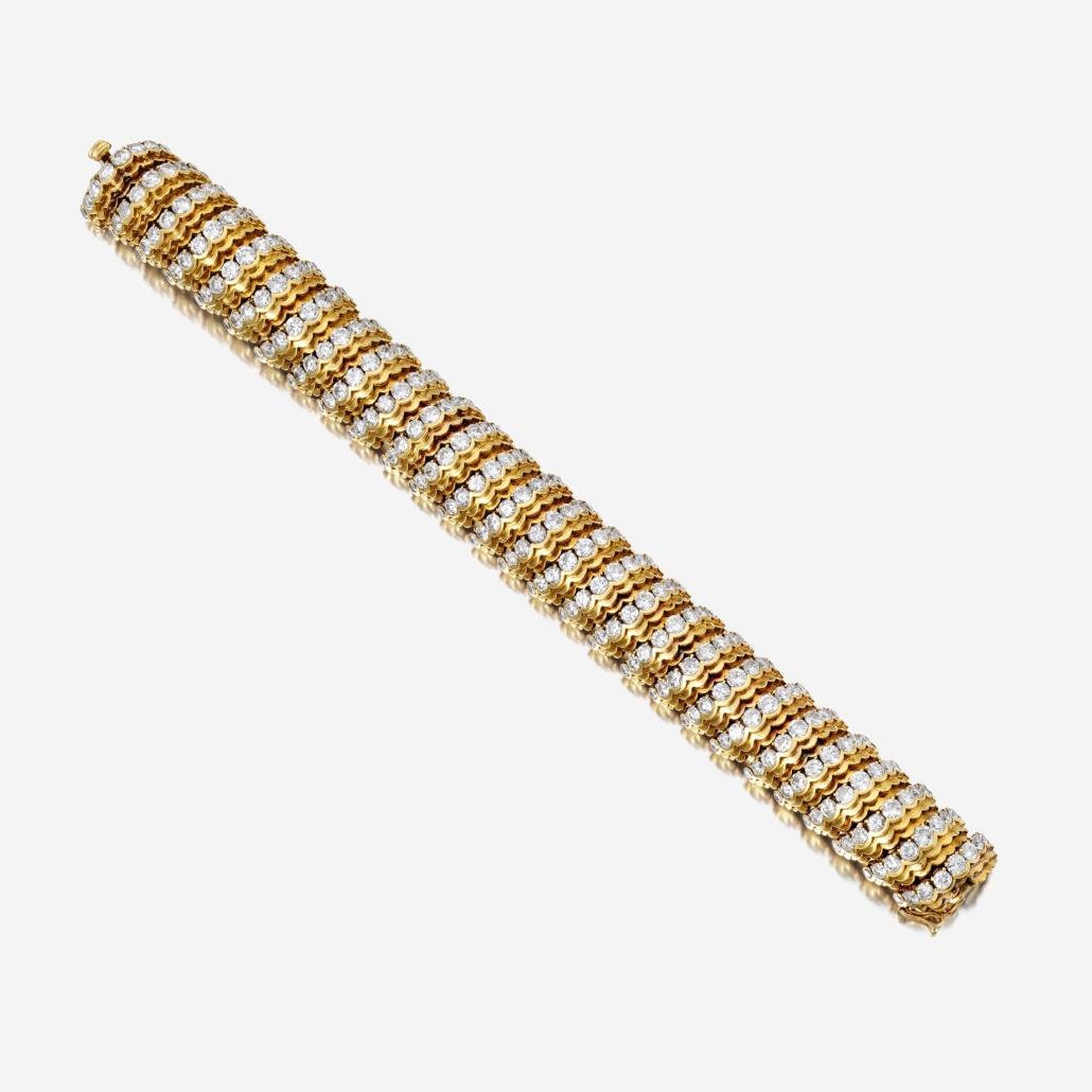 Van Cleef & Arpels 18K gold and diamond bracelet, estimated at $20,000-$30,000