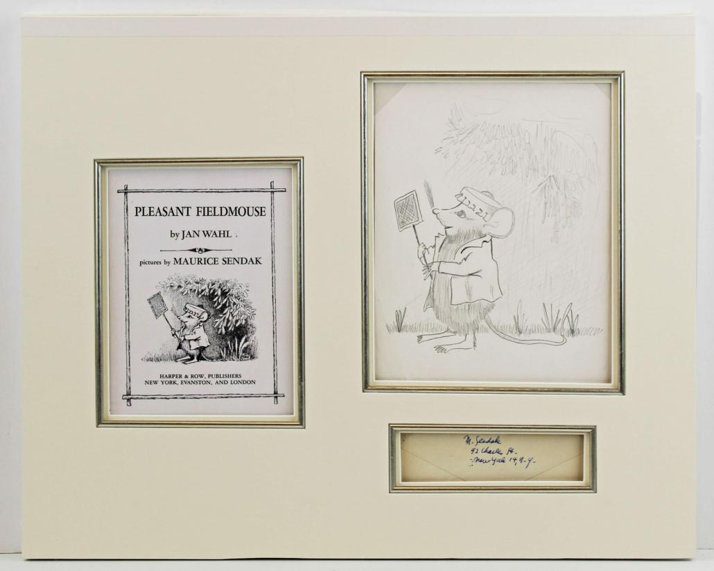 Original Maurice Sendak book illustration from 1964, estimated at $2,000-$2,400