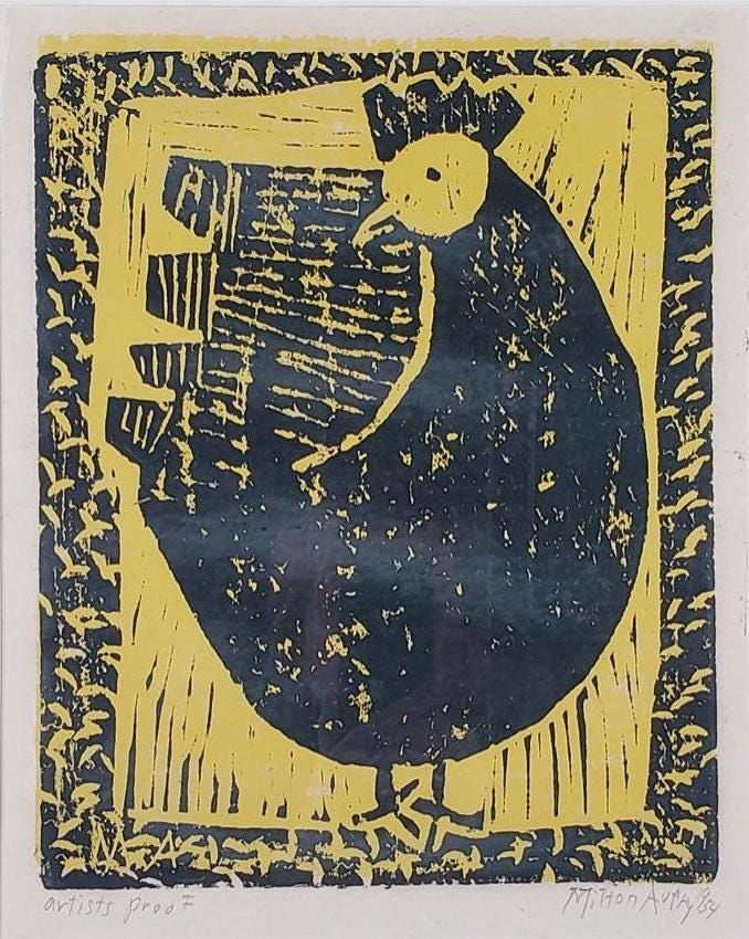 Color woodblock printed on Japan paper by Milton Avery, estimated at $1,500-$3,000