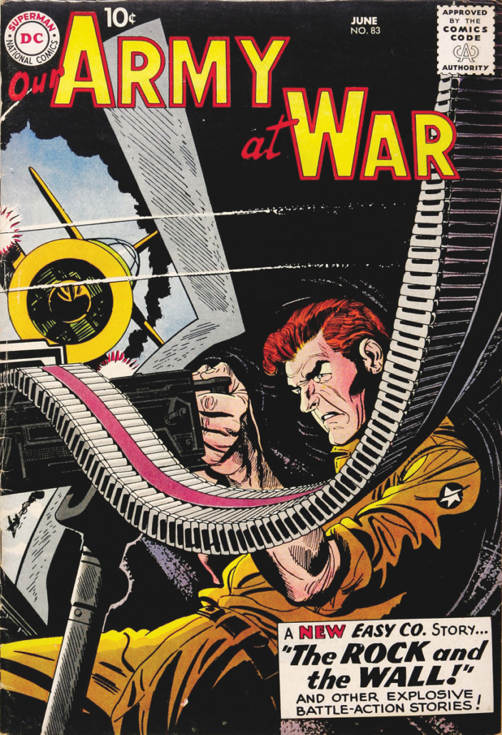 'Our Army at War '#83 is credited as the first true Sgt. Rock appearance by Joe Kubert, following several prototypical appearances by the character.
