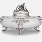 Maison Odiot French sterling silver dish, sold for $9,375