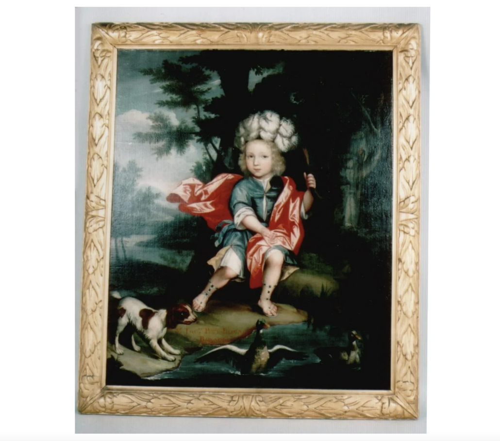 Portrait of Sir Thomas Pope Blount as a child, estimated at $8,000-$10,000