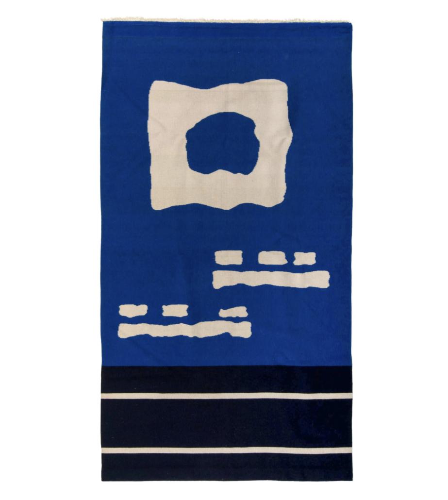 Ramona Saskiestewa's 'Blue Corn 10' tapestry, which sold for $17,500