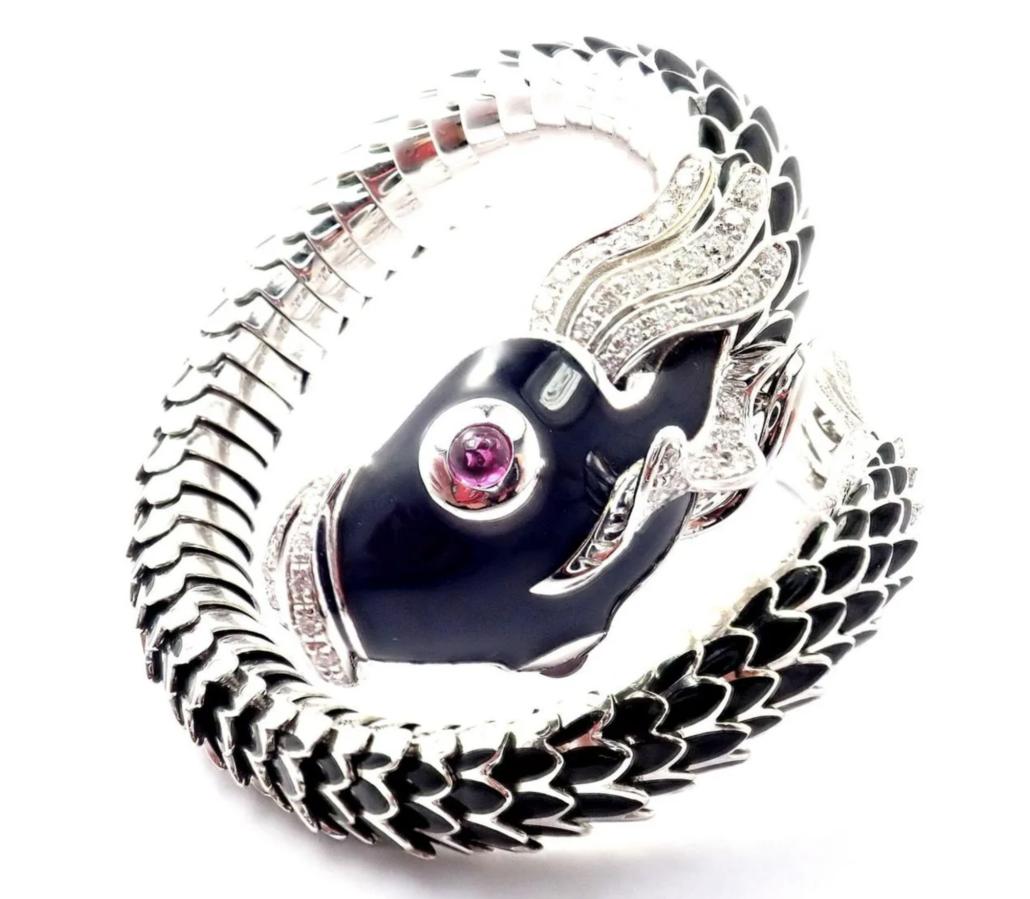 Limited edition Roberto Coin Nemo cuff bracelet, estimated at $23,000-$28,000