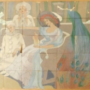 Monumental Rookwood tile mural, estimated at $10,000-$15,000