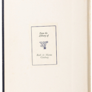 The Ruth Bader Ginsburg-owned law school textbook features the bookplate she and her husband used.