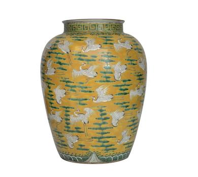 Sancai crane jar set to fly at Gianguan June 12 auction