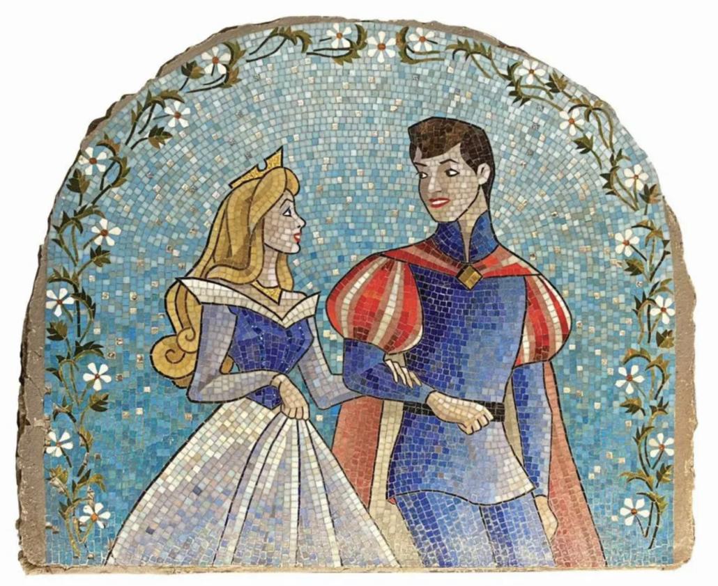 Original Sleeping Beauty castle mosaic, estimated at $25,000-$30,000
