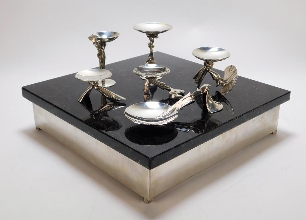 Richard Fishman sterling silver seder set, estimated at $2,000-$3,000