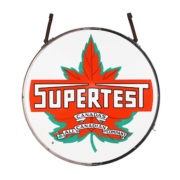 Supertest Service Station double-sided porcelain hanging sign, which sold for CA $21,240