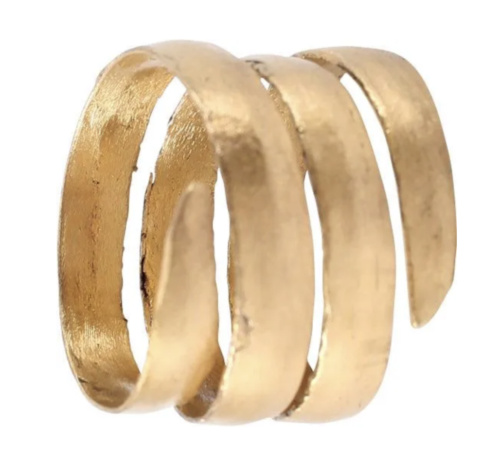24K Viking gold coil ring, estimated at $400-$500