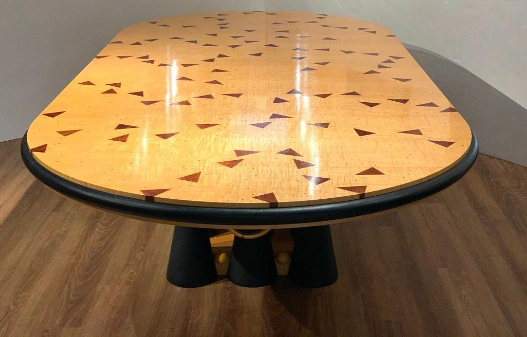 Wendell Castle dining table, estimated at $30,000-$50,000