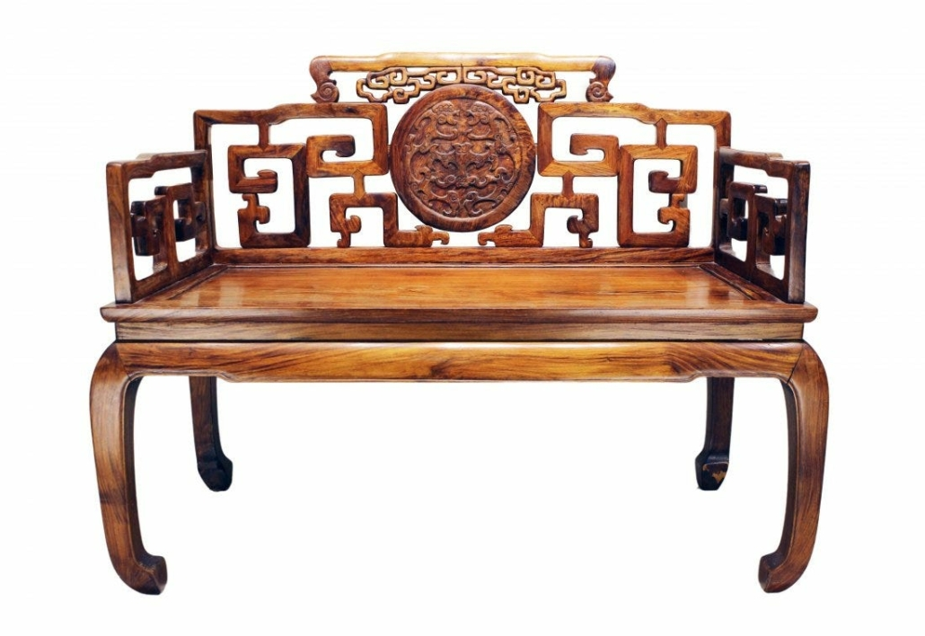 This Qing dynasty huanghuali double armchair brought $223,777 plus the buyer's premium in March 2021 at Majestic Auction.
