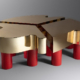 Guy de Rougemont, Golden Clover coffee table, estimated at $15,000-$20,000