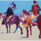 Fritz Scholder, 'Indians on Horseback,' which sold for $100,000