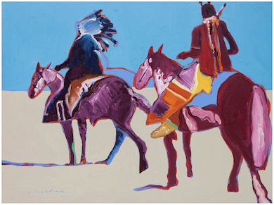 Fritz Scholder painting charges to top of Hindman Western auction