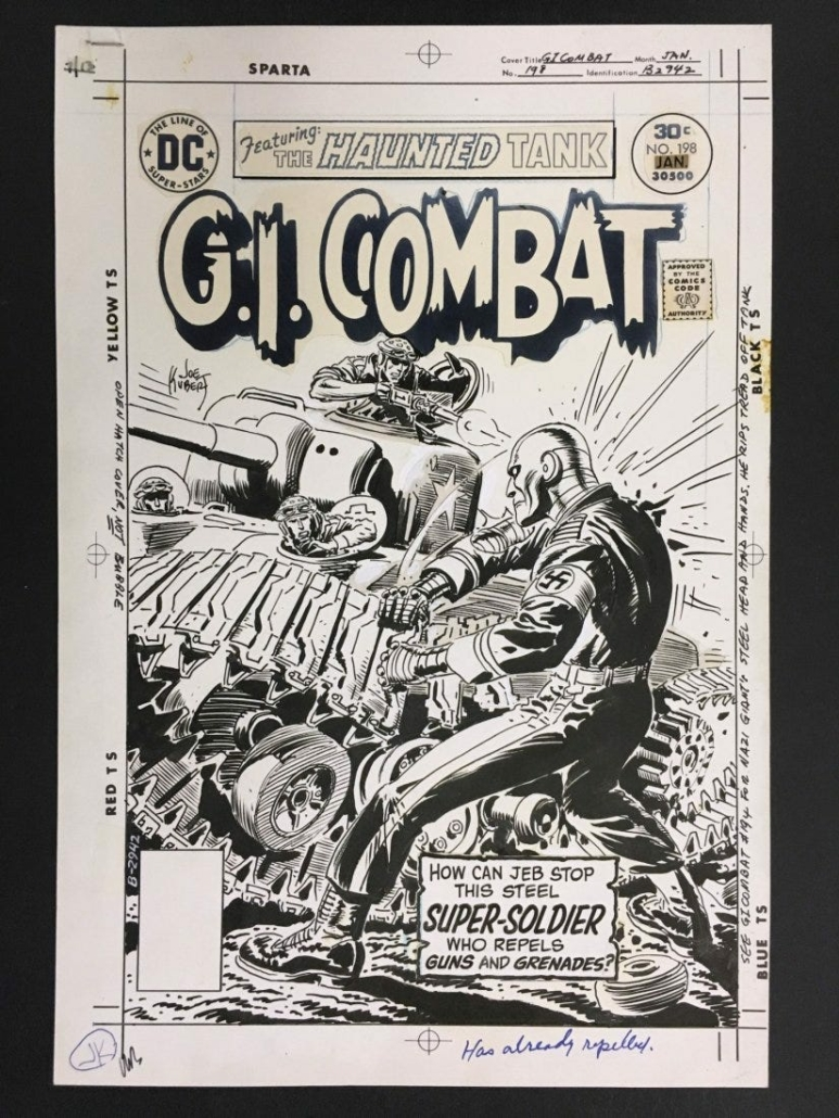 Joe Kubert made sure war comics did not glorify war. In his issues, soldiers were bloodied and weary. This copy of 'G.I. Kombat' with his cover art shows a soldier against seemingly insurmountable odds.